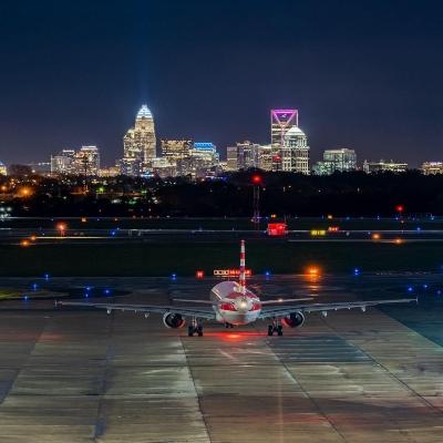 Charlotte skyline airport
